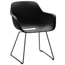 CAPTAIN`S CHAIR • Gartenstuhl mit Armlehne • Sitzschale Schwarz • Gestell Schwarz • EXTREMIS