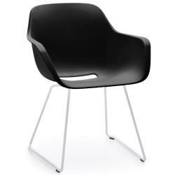 CAPTAIN`S CHAIR • Gartenstuhl mit Armlehnen • Sitzschale Schwarz • Gestell Weiss • EXTREMIS