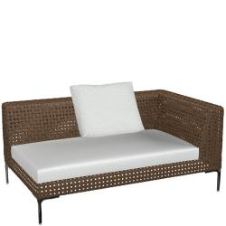 CHARLES OUTDOOR • Loungemodul END-Element 160cm RECHTS • B&B Italia