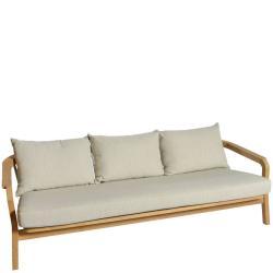 CHEPRI • Outdoor 3-Sitzer Sofa • Teak • Seile Natur • BOREK