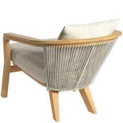 CHEPRI • Outdoor Loungesessel / Loungechair • Teak • Seile Natur • BOREK