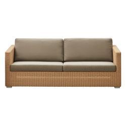 CHESTER • Lounge 3-Sitzer Sofa • inkl.Kissensatz • Natur • cane-line