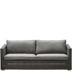 CHESTER • Outdoor 3-Sitzer Sofa-Gestell • Graphit • exkl.Polster-Set • Cane-line