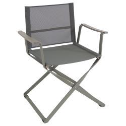 CIAK • Gartenstuhl mit Armlehnen / Klappstuhl • Gestell Graugrün / Bespannung Graugrün • EMU