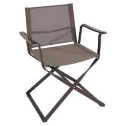 CIAK • Gartenstuhl mit Armlehnen / Klappstuhl • Gestell Indischbraun / Bespannung Braunrau • EMU