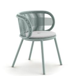 CIRQL • Gartenstuhl mit Armlehnen • Bluestone • DEDON