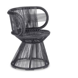 CIRQL • Gartenstuhl mit Armlehnen und Standfuß • onyx/carbon • Dedon