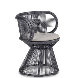 CIRQL • Gartenstuhl mit Armlehnen und Standfuss • Onyx Carbon • DEDON