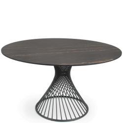 CLARIS • Gartentisch • Rund • Ø132cm • div.Platten & Gestellfarben • Fischer Möbel