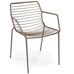 CLARIS • Gartenstuhl mit Armlehnen • Dark Bronze • Fischer Möbel