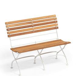CLASSIC • 2-Sitzer Gartenbank ohne Armlehnen • div.Gestellfarben • WEISHÄUPL