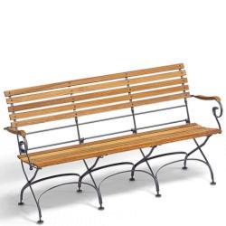 CLASSIC • 3-Sitzer Gartenbank mit Armlehnen • div.Gestellfarben • WEISHÄUPL