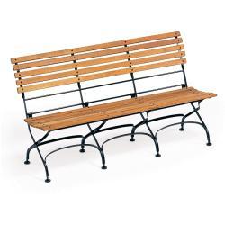 CLASSIC • 3-Sitzer Gartenbank ohne Armlehnen • div.Gestellfarben • WEISHÄUPL