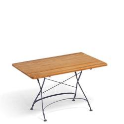CLASSIC • Gartentisch / Klapptisch / Bistrotisch • 80×80cm • div.Gestellfarben • WEISHÄUPL