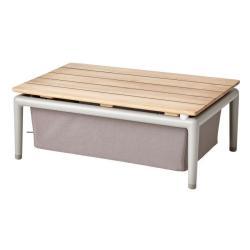 CONIC • Couchtisch / Loungetisch • mit Stauraum • Braun • cane-line