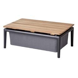 CONIC • Couchtisch / Loungetisch • mit Stauraum • Grau • cane-line