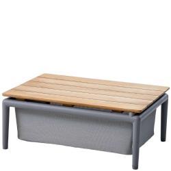 CONIC • Couchtisch / Loungetisch • mit Stauraum • Hellgrau oder Grau • Cane-line