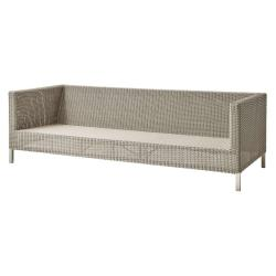 CONNECT • Lounge 3-Sitzer Sofa • Geflecht Taupe • cane-line