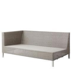 CONNECT • Loungemodul 2-Sitzer Sofa RECHTS • Geflecht Taupe • cane-line