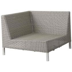 CONNECT • Loungemodul ECK-Element • Geflecht Taupe • cane-line