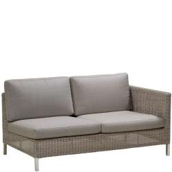 CONNECT • Outdoor Loungemodul 2-Sitzer-Sofa LINKS • inkl.Polster • Cane-line
