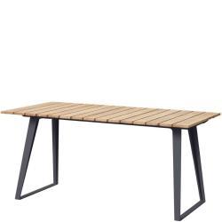 COPENHAGEN • ausziehbarer Gartentisch • 160/243×84cm • Lavagrau/Teak • Cane-line
