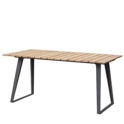 COPENHAGEN • ausziehbarer Gartentisch • 160/243 x 84cm • Lavagrau / Teak • cane-line