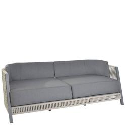COSENZA • Outdoor 3er-Sofa • Gestell Anthrazit • Gurtbespannung in Taupe • BOREK