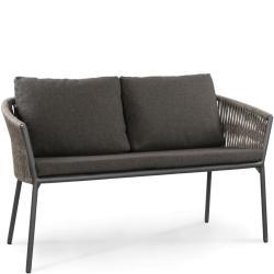 COSMO • Gartenbank 2-Sitzer • B134cm • Anthrazit oder Weiss • inkl.Polster • Fischer Möbel