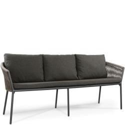 COSMO • Gartenbank 3-Sitzer • B184cm • Anthrazit oder Weiss • inkl.Polster • Fischer Möbel