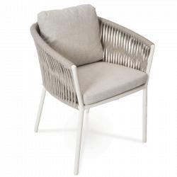 COSMO • Gartenstuhl mit Armlehnen • Anthrazit oder Weiss • Fischer Möbel