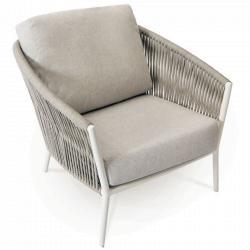 COSMO • Loungesessel / Loungechair • inkl.Polster • Anthrazit oder Weiss • Fischer Möbel