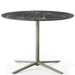 COSMOS • Gartentisch / Bistrotisch • Höhe 72cm × Ø90cm • Aluminiumgestell & Porzellan-Steinzeug-Platte • div.Farben • B&B Italia
