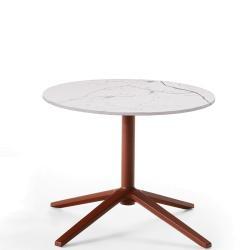 COSMOS • Outdoor Beistelltisch / Loungetisch • Höhe 40cm × Ø50cm • Aluminiumgestell & Porzellan-Steinzeug-Platte • div.Farben • B&B Italia
