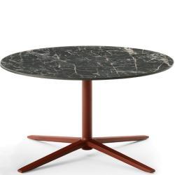 COSMOS • Outdoor Couchtisch / Loungetisch • Höhe 45cm × Ø80cm • Aluminiumgestell & Porzellan-Steinzeug-Platte • div.Farben • B&B Italia