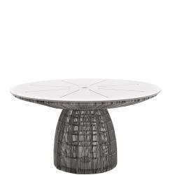 CRINOLINE • Gartentisch • Ø138cm • HPL-Platte • Schwarz-Weiß oder Tortora • B&B Italia