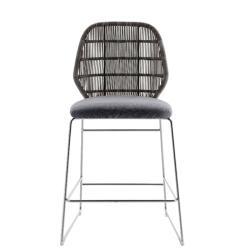 CRINOLINE • Outdoor Barhocker Höhe 102,5cm • Weiß-Schwarz oder Tortora • B&B Italia