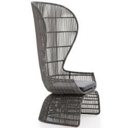CRINOLINE • Outdoor Loungesessel / Loungechair • mit hoher Rückenlehne •Inkl. Sitzpolster • Taupengrau • B&B Italia