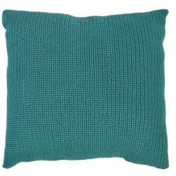 CROCHETTE • Outdoor Kissen 50x50 • doppelt gehäkelte Ardenza Outdoor Faser • Farbe blue slate • BOREK
