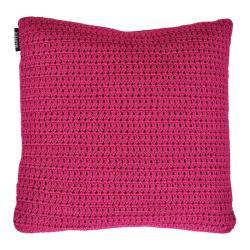 CROCHETTE • Outdoor Kissen 50x50 • doppelt gehäkelte Ardenza Outdoor Faser • Farbe Fuchsia • BOREK