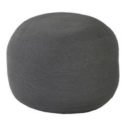 CROCHETTE • Outdoor Sitzhocker Ø53cm • doppelt gehäkelte Ardenza Outdoor Faser • Farbe Anthrazit • BOREK
