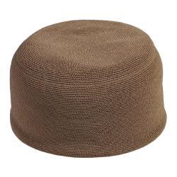 CROCHETTE • Outdoor Sitzhocker Ø53cm • doppelt gehäkelte Ardenza Outdoor Faser • Farbe Sand • BOREK