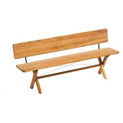 CROSS • Gartenbank / Klappbank • 140cm • mit Rückenlehne • Teak • WEISHÄUPL
