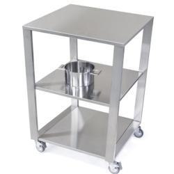 CUN Küchenwagen für Eckkombination • Offen • 1 Regalboden • Edelstahl • JOKODOMUS