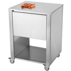 CUN Küchenwagen mit Stauraum • 1 große Schublade • Edelstahl • JOKODOMUS