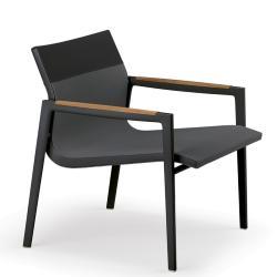 DEAN • Outdoor  Loungesessel / Loungechair • Schwarz • DEDON
