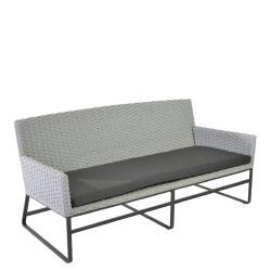 DEIA • Outdoor 2-Sitzer Sofa • Alu anthrazit • Seilbespannung Eisengrau • Kissen inklusive • BOREK