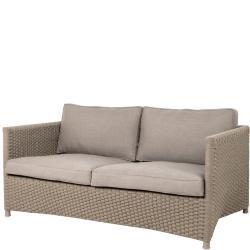 DIAMOND ROPE • Outdoor 2-Sitzer-Sofa • Seilgeflecht • Taupe • Cane-line