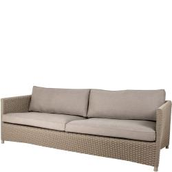 DIAMOND ROPE • Outdoor 3-Sitzer-Sofa • Seilgeflecht • Taupe • Cane-line