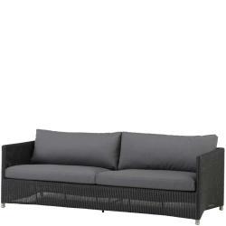 DIAMOND WEAVE • Outdoor 3-Sitzer Sofa • Kunstfaser • Graphit • Cane-line